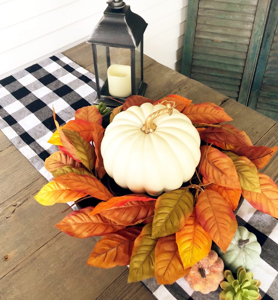 pumpkin fall table scape