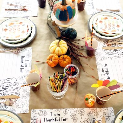 Simple and Fun Thanksgiving Kids' Table