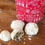 Chocolate and Toffee Snowball Cookies