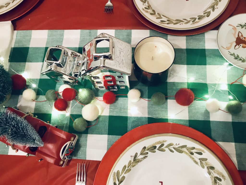 Christmas family friendly table settings