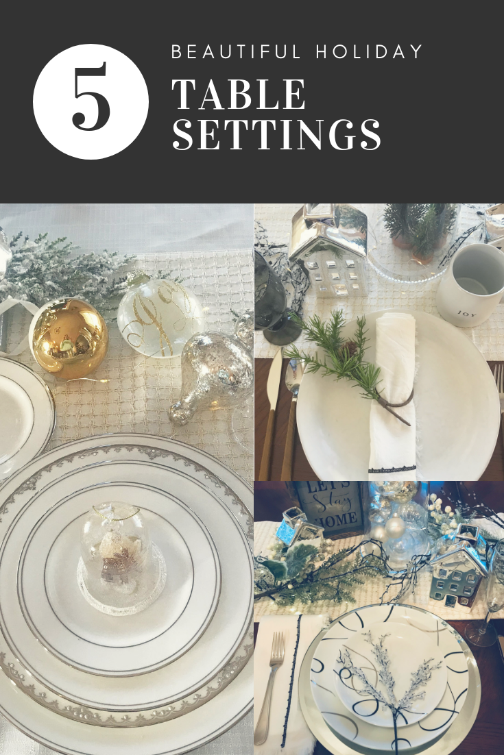 5 amazing holiday table settings