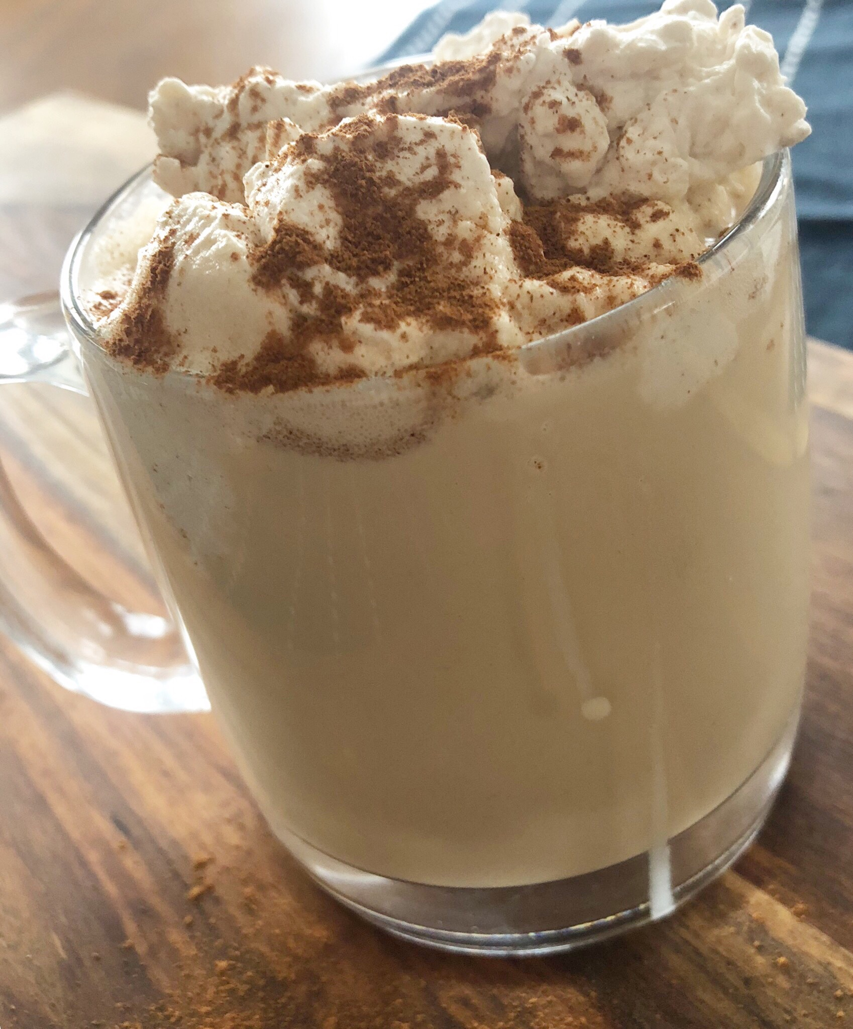 Cinnamon whipped cream Irish coffee