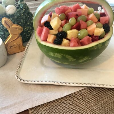 Easter Basket Fruit Bowl