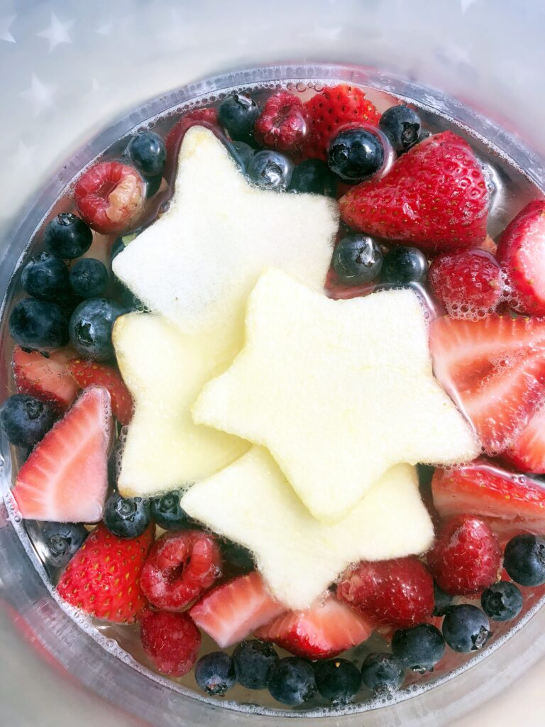 perfect patriotic summer sangria