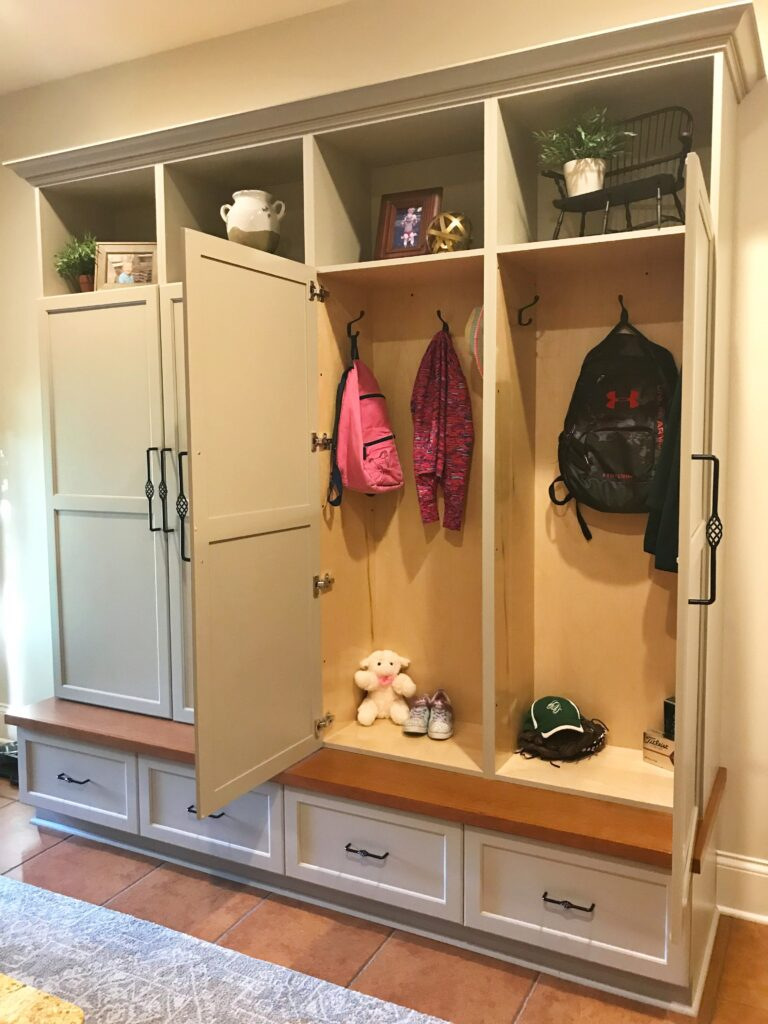 Mudroom Cabinet Reveal
