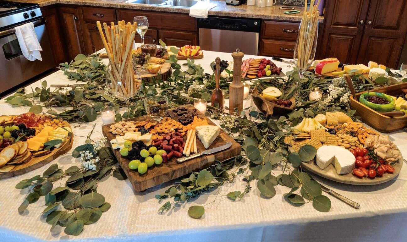 wine and charcuterie inspired bridal shower