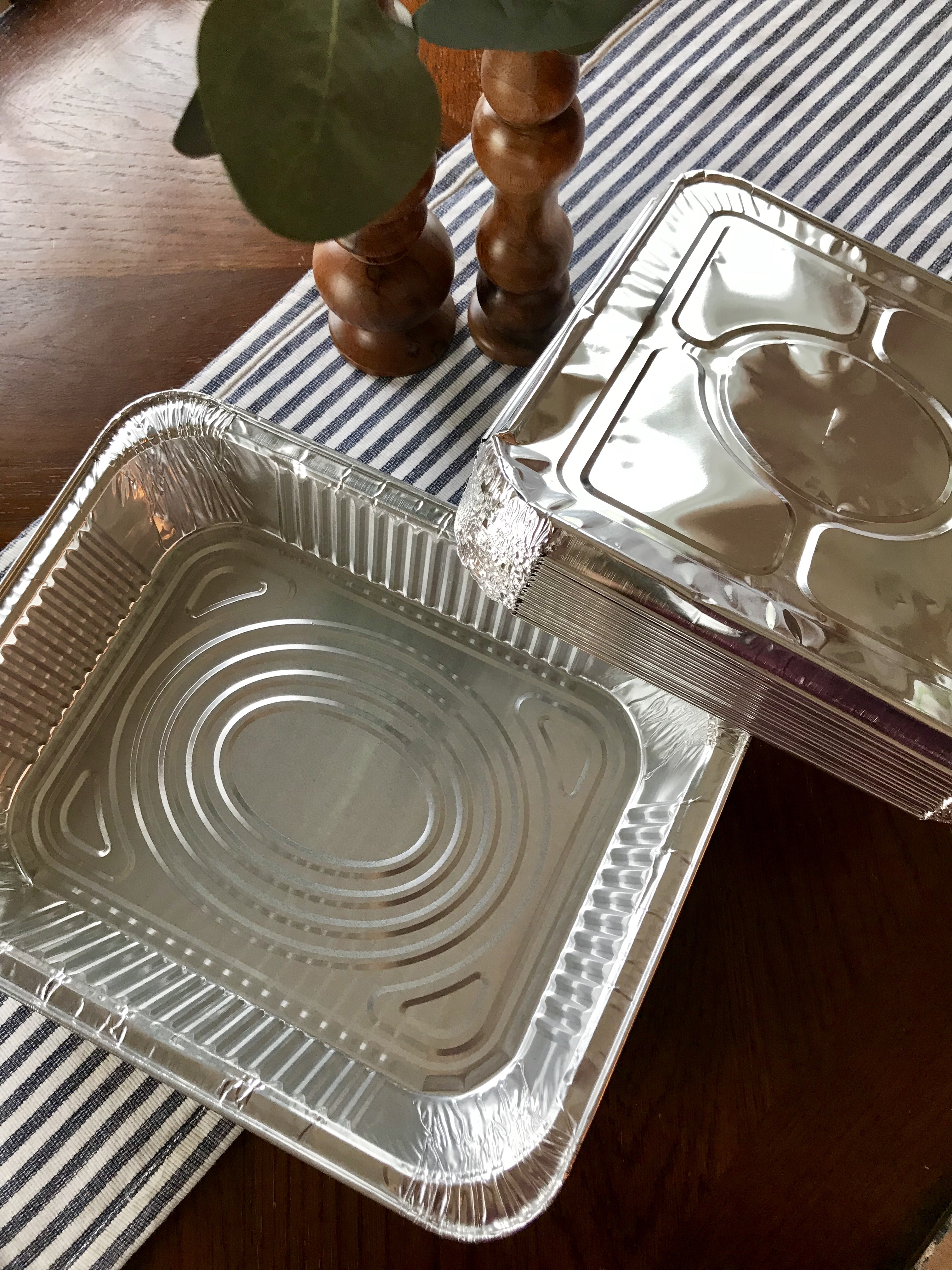 Aluminum pans found on Amazon. Great for freezer meal prep.