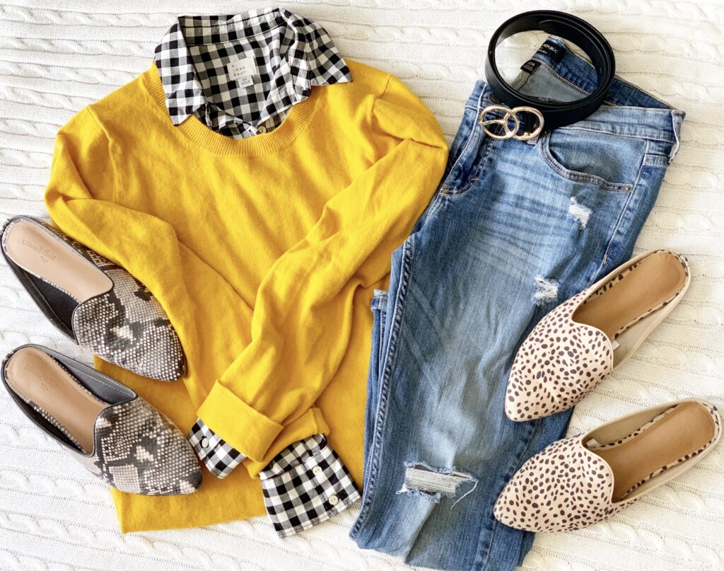 Great inspiration for fall wardrobe including animal prints!