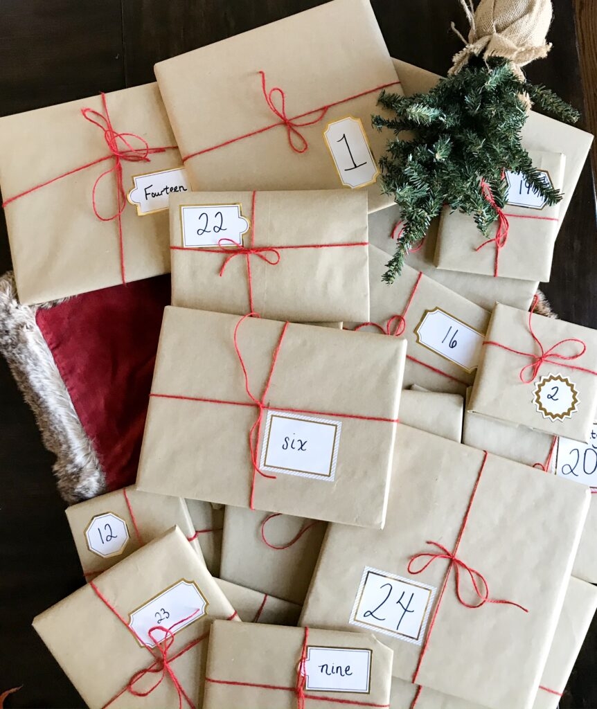 Christmas books wrapped