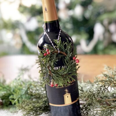 12 Festive Ways to Dress Up a Wine Bottle