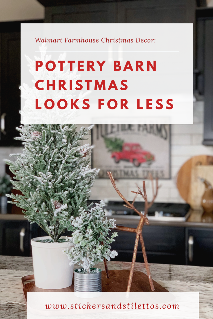 pottery barn christmas looks for less. Walmart has great christmas decor this year