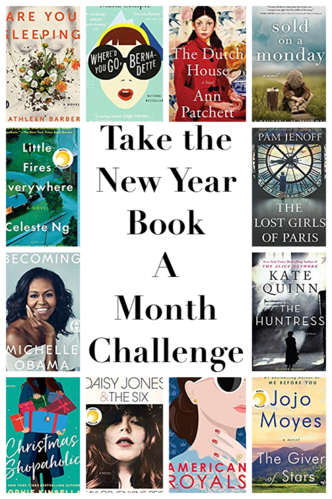 Take the 2020 Moms' Book-A-Month Reading challenge!