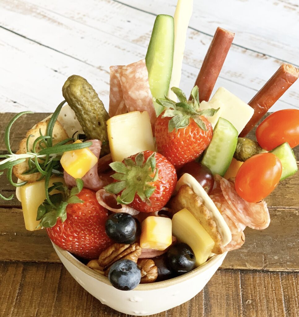 charcuterie in a bowl