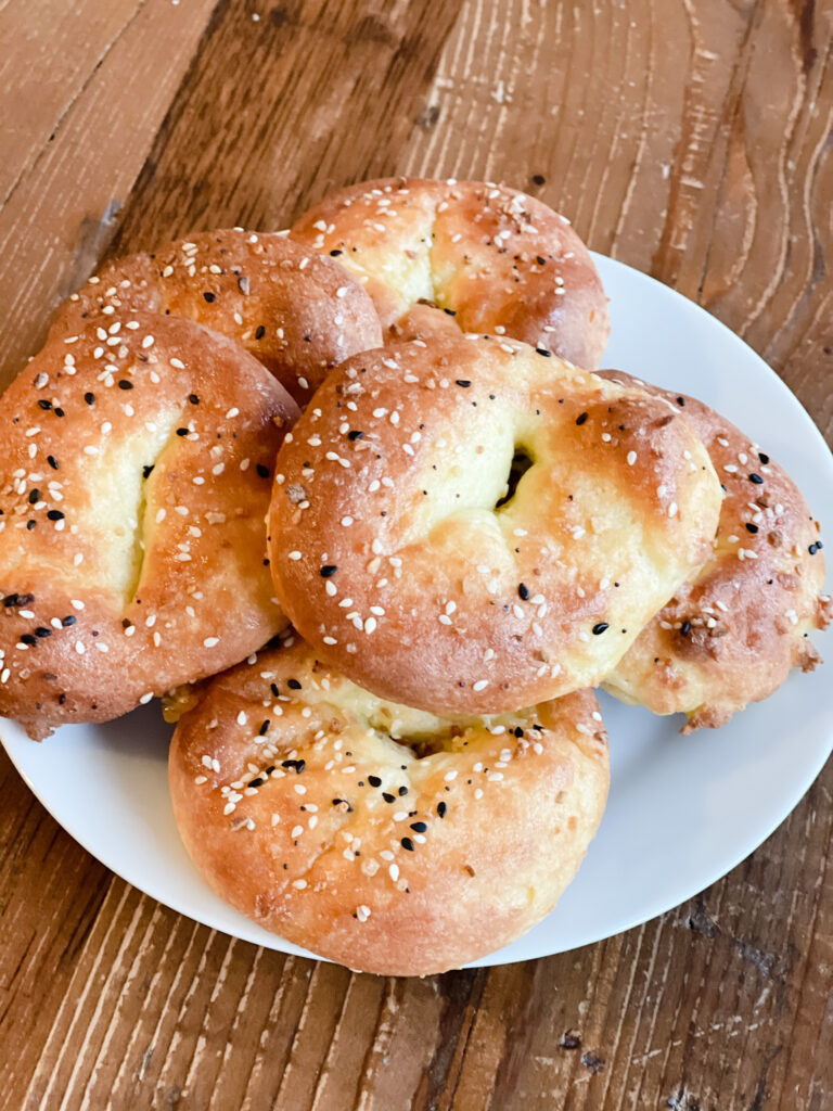 homemade low carb bagels