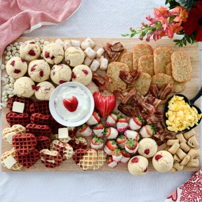 Valentine's Breakfast Board