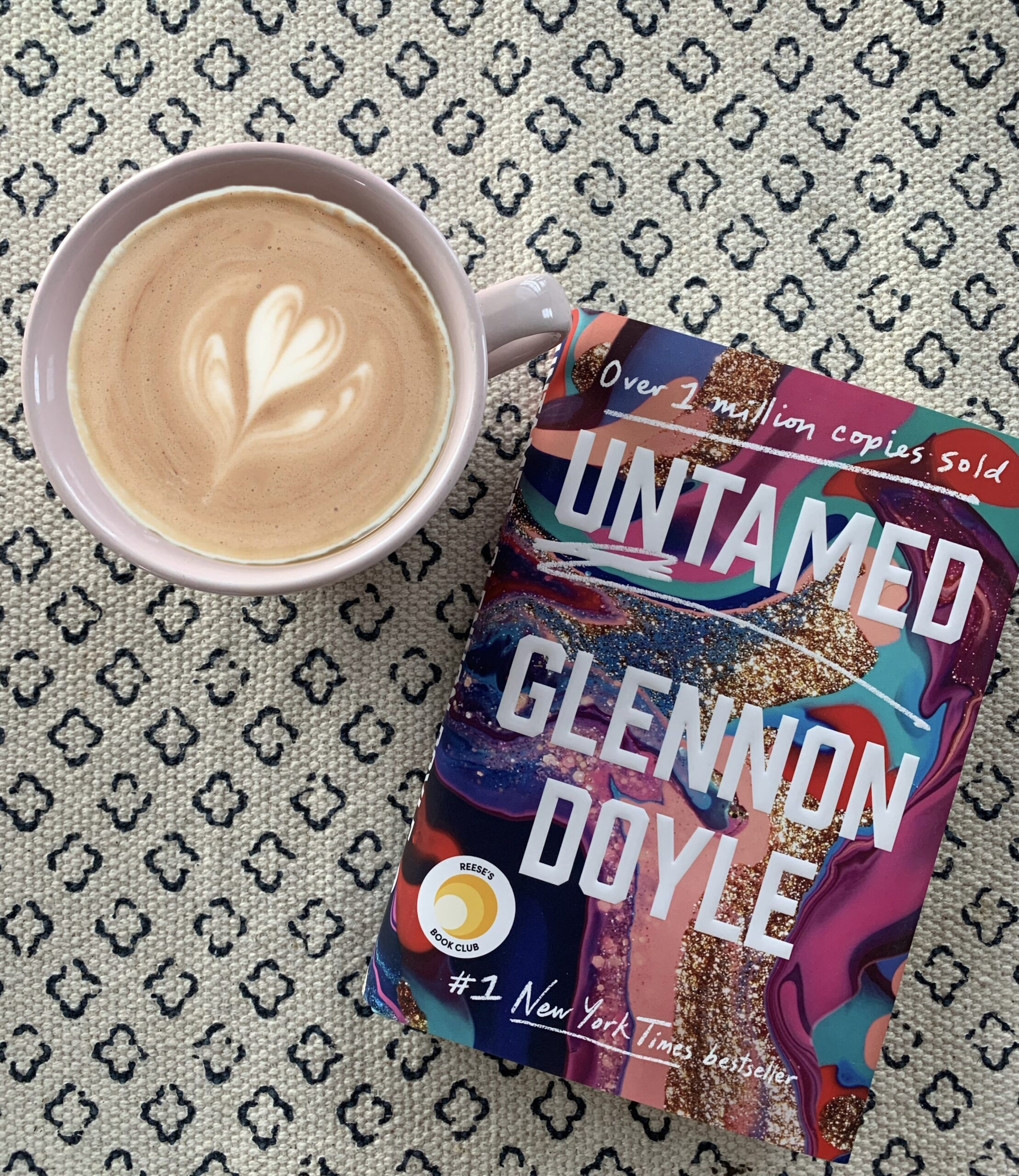 Brightly colored book cover for Untamed by Glennon Doyle Melton